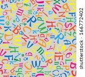 multicolor english alphabet... | Shutterstock . vector #166772402