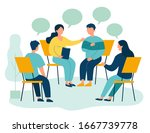 people suffering from problems  ... | Shutterstock .eps vector #1667739778