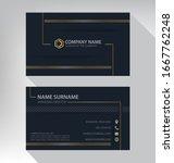 business card in modern luxury... | Shutterstock .eps vector #1667762248