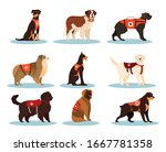 set of dogs rescuers....   Shutterstock .eps vector #1667781358
