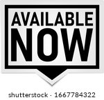 available now black paper tag...   Shutterstock .eps vector #1667784322