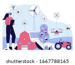 5g online wireless system.... | Shutterstock .eps vector #1667788165