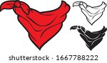 Red Bandana Vector Illustration ...