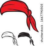 red bandana vector illustration ...   Shutterstock .eps vector #1667790505