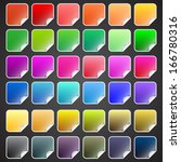 colorful vector buttons with... | Shutterstock .eps vector #166780316