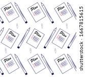 seamless pattern of office... | Shutterstock .eps vector #1667815615