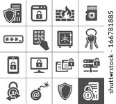 information technology security ... | Shutterstock .eps vector #166781885