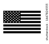 american flag silhouette vector ... | Shutterstock .eps vector #1667824555