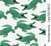 Crocodile Pattern And Repeating ...