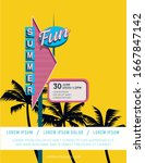 summer party or festival poster ... | Shutterstock .eps vector #1667847142