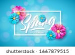 vector illustration on a spring ...   Shutterstock .eps vector #1667879515