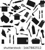 kitchen utensil  kitchenware... | Shutterstock .eps vector #1667882512