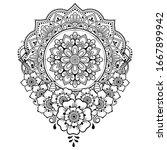 circular pattern in form of... | Shutterstock .eps vector #1667899942