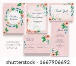 wedding invitation card set... | Shutterstock .eps vector #1667906692