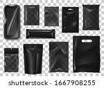 black pack realistic mock up... | Shutterstock .eps vector #1667908255