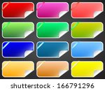 colorful labels vector set | Shutterstock .eps vector #166791296