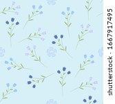 floral seamless pattern. raster ... | Shutterstock . vector #1667917495