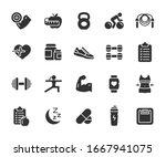 vector set of fitness flat...   Shutterstock .eps vector #1667941075