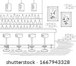 bar interior graphic black... | Shutterstock .eps vector #1667943328