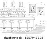 bar interior graphic black... | Shutterstock .eps vector #1667943328