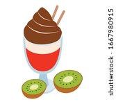 multicolored dessert icon.... | Shutterstock .eps vector #1667980915