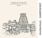 kanchipuram  kanchi   tamil... | Shutterstock .eps vector #1668026365