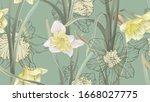 floral seamless pattern ... | Shutterstock .eps vector #1668027775