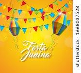 festa junina illustration with... | Shutterstock . vector #1668037528