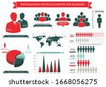 collection of infographic... | Shutterstock .eps vector #1668056275