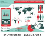 collection of infographic... | Shutterstock .eps vector #1668057055
