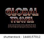 vector shiny banner global... | Shutterstock .eps vector #1668157012