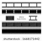 set of film vector stripes... | Shutterstock .eps vector #1668171442