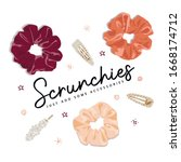 illustration of a scrunchies... | Shutterstock .eps vector #1668174712