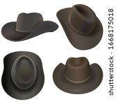Vector Cowboy Hats Isolated On...