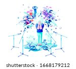 stock isolated vector abstract... | Shutterstock .eps vector #1668179212