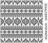 aztec motifs seamless pattern...   Shutterstock .eps vector #1668179935