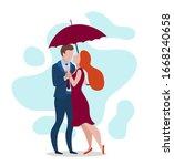 cartoon color characters people ... | Shutterstock .eps vector #1668240658