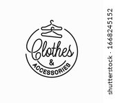 clothes and accessories logo.... | Shutterstock .eps vector #1668245152