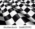 detail of a waving checkered... | Shutterstock . vector #166825592