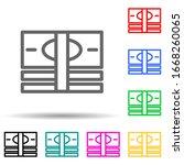 money bills multi color style...