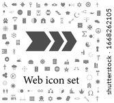 arrow with a stroke icon. web...