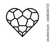 love  football icon. simple...