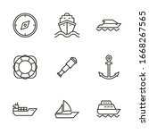 Vector Set Of Icons On The...