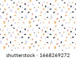 terrazzo flooring seamless...   Shutterstock .eps vector #1668269272