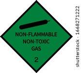 dangerous goods placards class... | Shutterstock .eps vector #1668271222