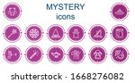 editable 14 mystery icons for... | Shutterstock .eps vector #1668276082