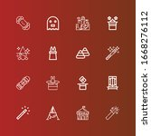 editable 16 trick icons for web ... | Shutterstock .eps vector #1668276112