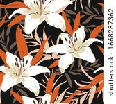 blossom floral seamless pattern.... | Shutterstock .eps vector #1668287362