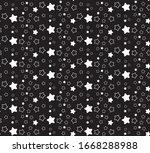 seamless star pattern. stars... | Shutterstock .eps vector #1668288988
