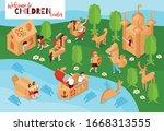 creative children center...   Shutterstock .eps vector #1668313555